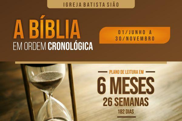 Vem aí um plano de leitura da Bíblia em 6 meses para toda a igreja. Serão 26 semanas de meditação da Palavra de Deus em ordem cronológica. Participe!